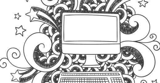 Coloriage gratuit, ordinateur 4 mai