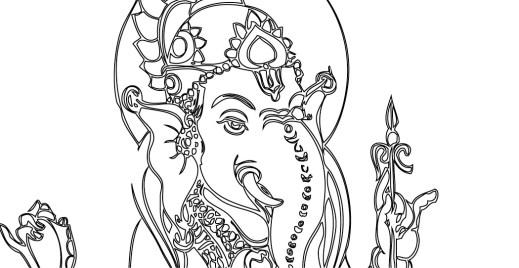 Coloriage gratuit, Ganesh, éléphant bouddhiste 13 mai