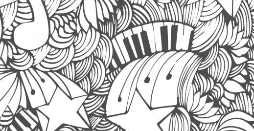 Coloriage gratuit, zendoodle musique
