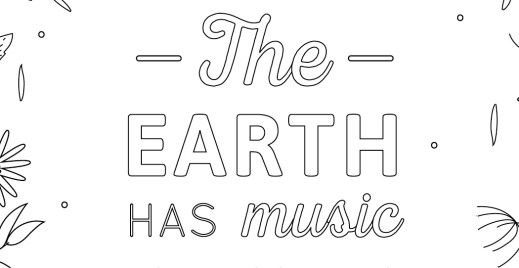 Coloriage gratuit, the earth has music