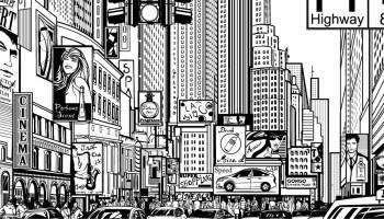 Coloriage Gratuit New York.Defis Coloriage De Mai Times Square New York Artherapie Ca