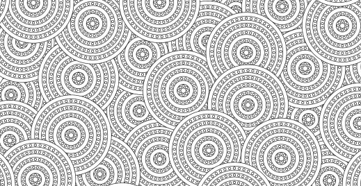 Coloriage gratuit, pattern ronds