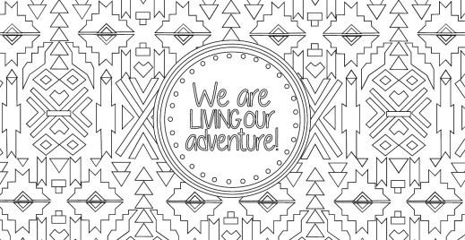 Coloriage gratuit, vivre l'aventure des vacances