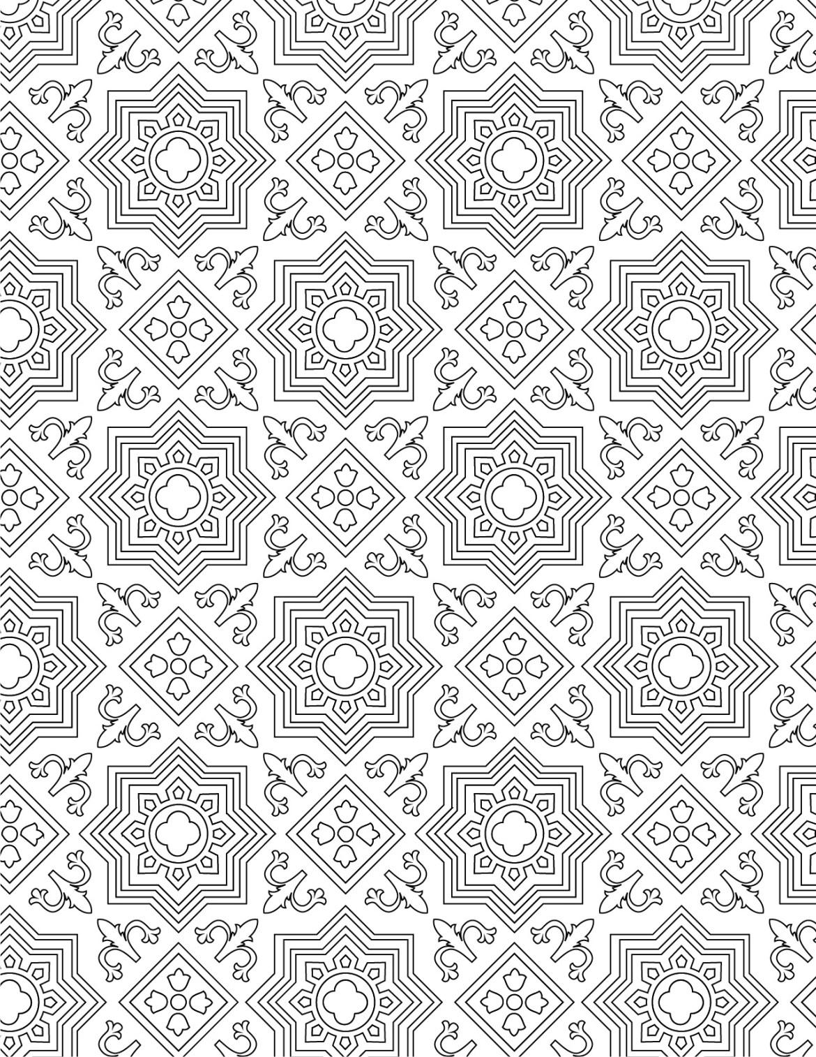 Imprimer coloriage gratuit motif mosaique - Dessin mosaique a imprimer ...