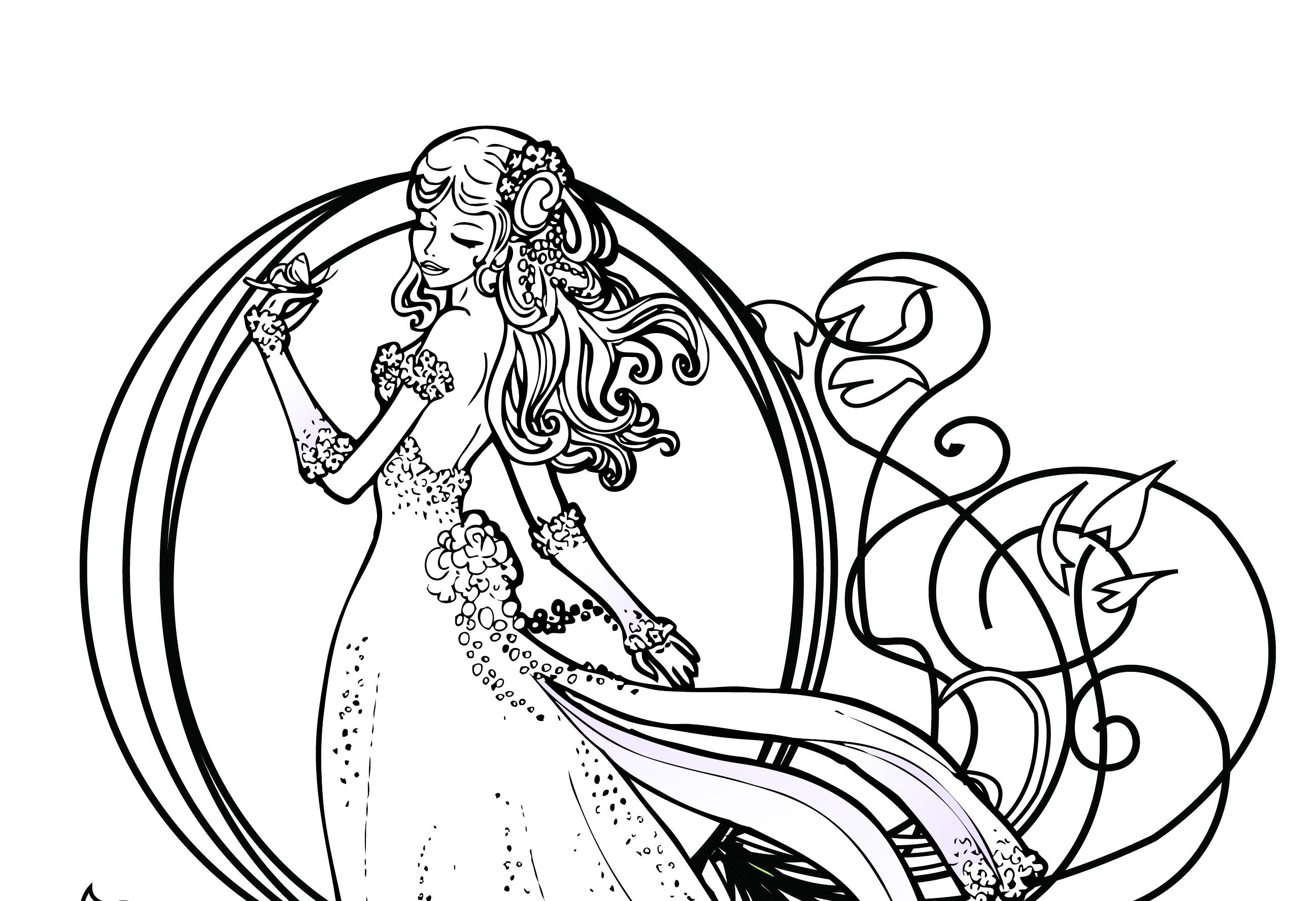 Coloriage de princesse disney gratuit à imprimer - Artherapie.ca