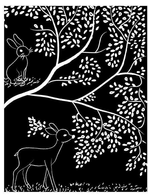 coloriage adulte gratuit, disney bambi