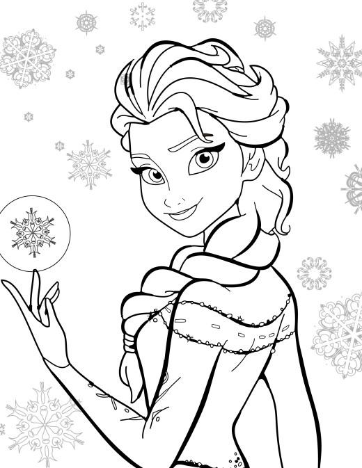 coloriage de disney gratuit, Elsa frozen