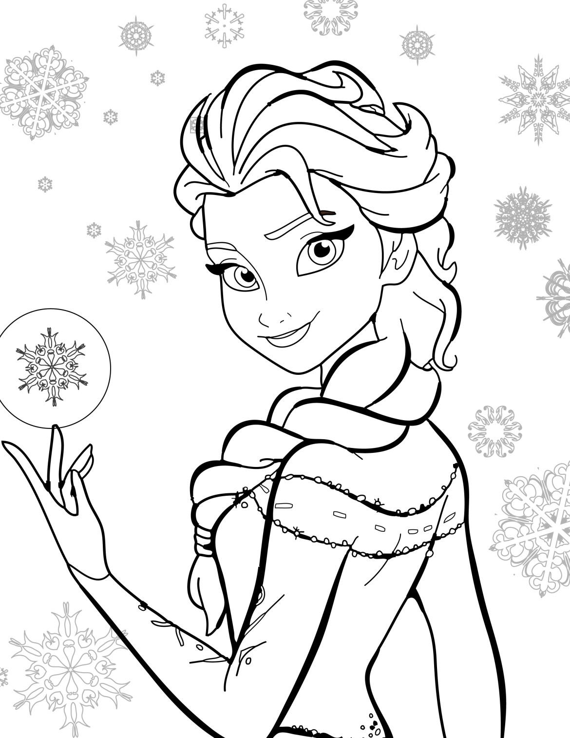 Coloriage De Disney Gratuit Elsa Frozen Artherapie Ca