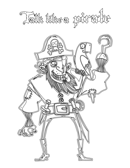 Coloriage de Journée internationale du parler pirate