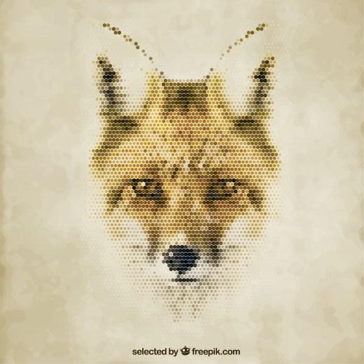 coloriage mystère magique renard à reproduire