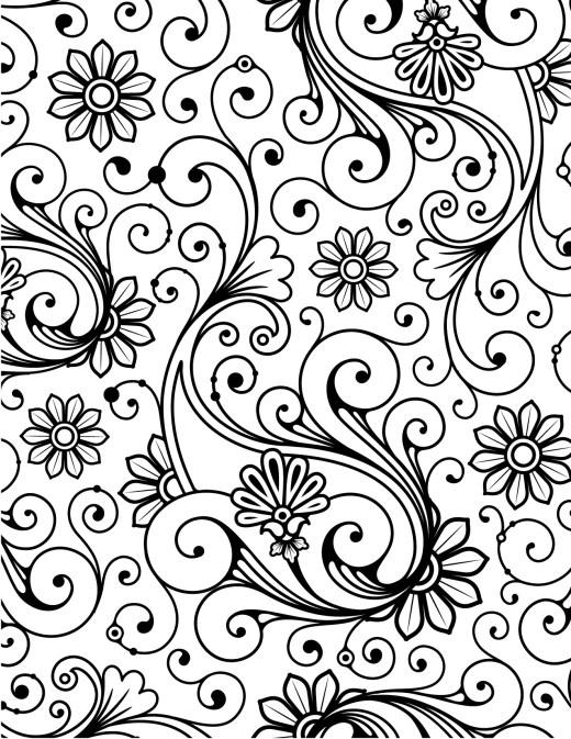 doodle fleurs dessin anti stress gratuit