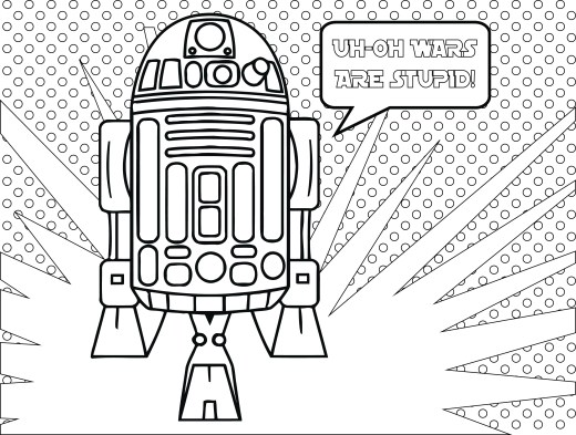 Star Wars Fall of the Resistance‬ Coloriage R2D2