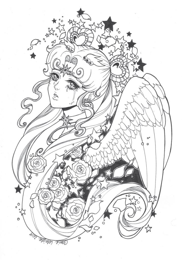 coloriage à imprimer Sailor Cosmo