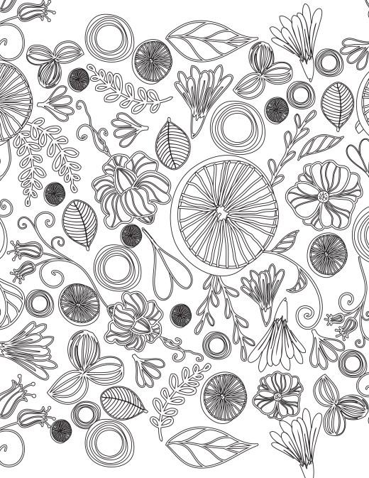 doodles fleurs dessin à imprimer gratuit