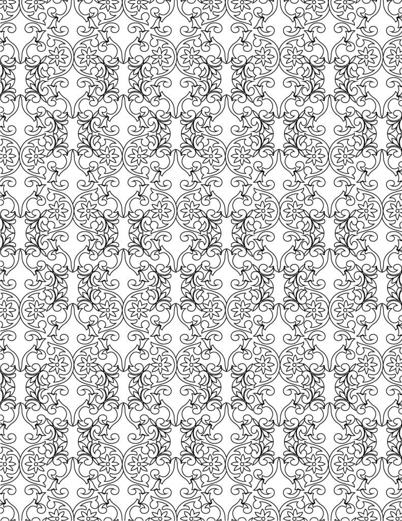dessin à colorier pour adulte pattern anti-stress