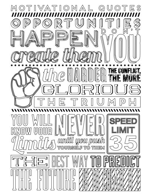 Image vintage typographie positive à imprimer