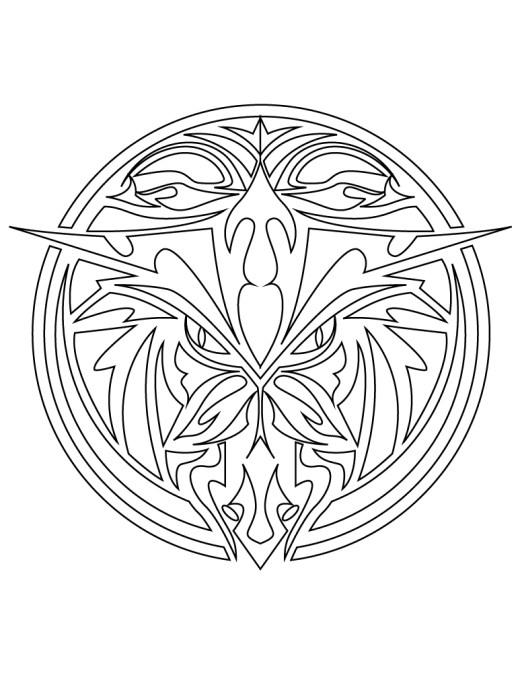 Mandala animaux tatouage à imprimer