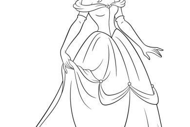 Coloriage disney princesse Belle à imprimer