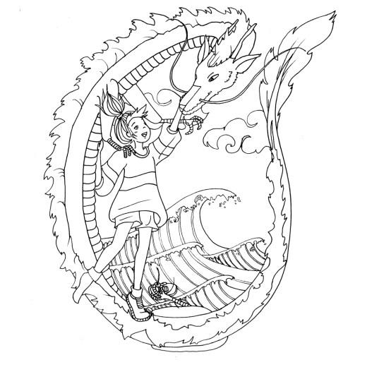 Image de dragon Totoro à imprimer par Chocobo