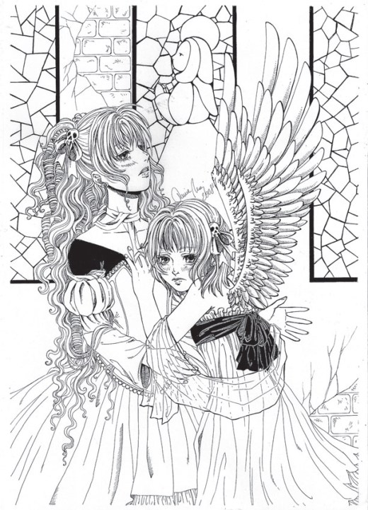 Charlotta anime japonnais coloriage par Dar-Chan