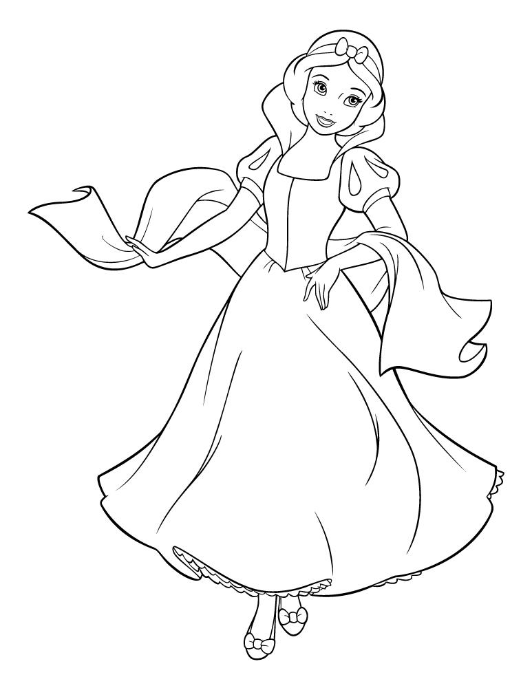 Blanche Neige Princesse Disney A Imprimer Artherapie Ca