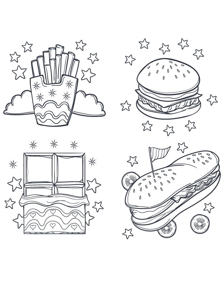 Street Fast Food Dessin Coloriage Pour Adulte Artherapie Ca