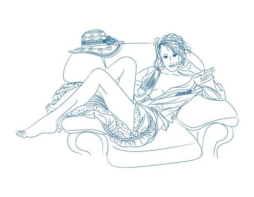 Soirée intime avec femme gratuitement à colorier