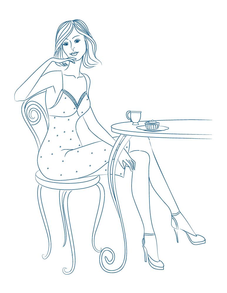 Mode pour femme café du dimanche à imprimer