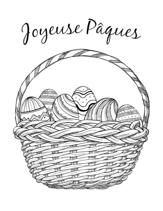 Joyeuse Pâques dessin coloriage gratuit