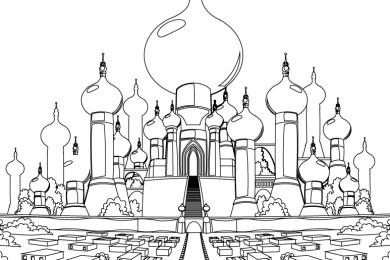 Château Aladdin film disney classique Jasmine