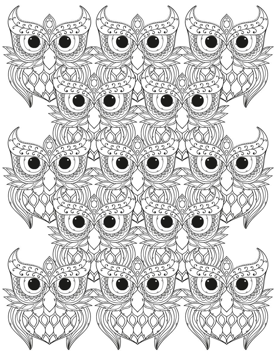Dessin a imprimer gratuit hibou difficile mosaique - Hibou en dessin ...