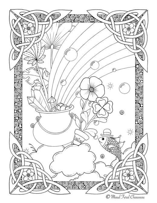 Dessin de la légende de l'arc-en-ciel par Maud Feral