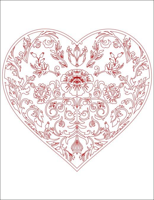 Image de bonjour d amour coloriage coeur à imprimer