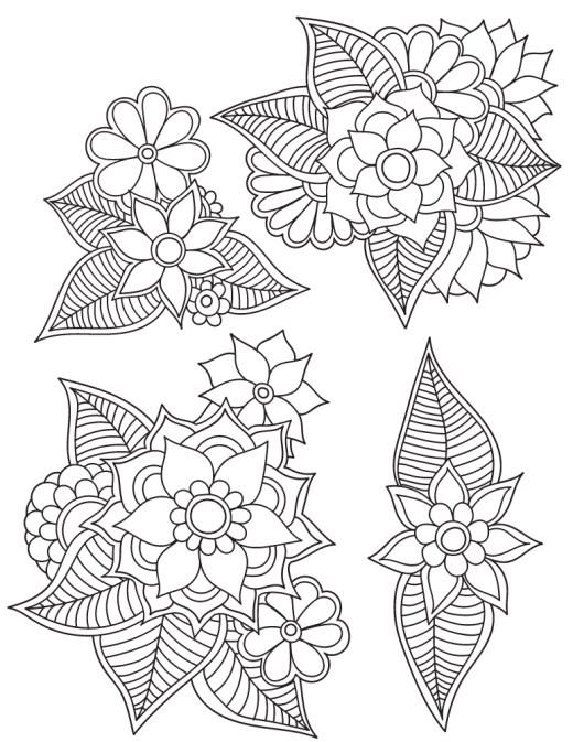 Mandalas fleurs dessin coloriage pour les grands