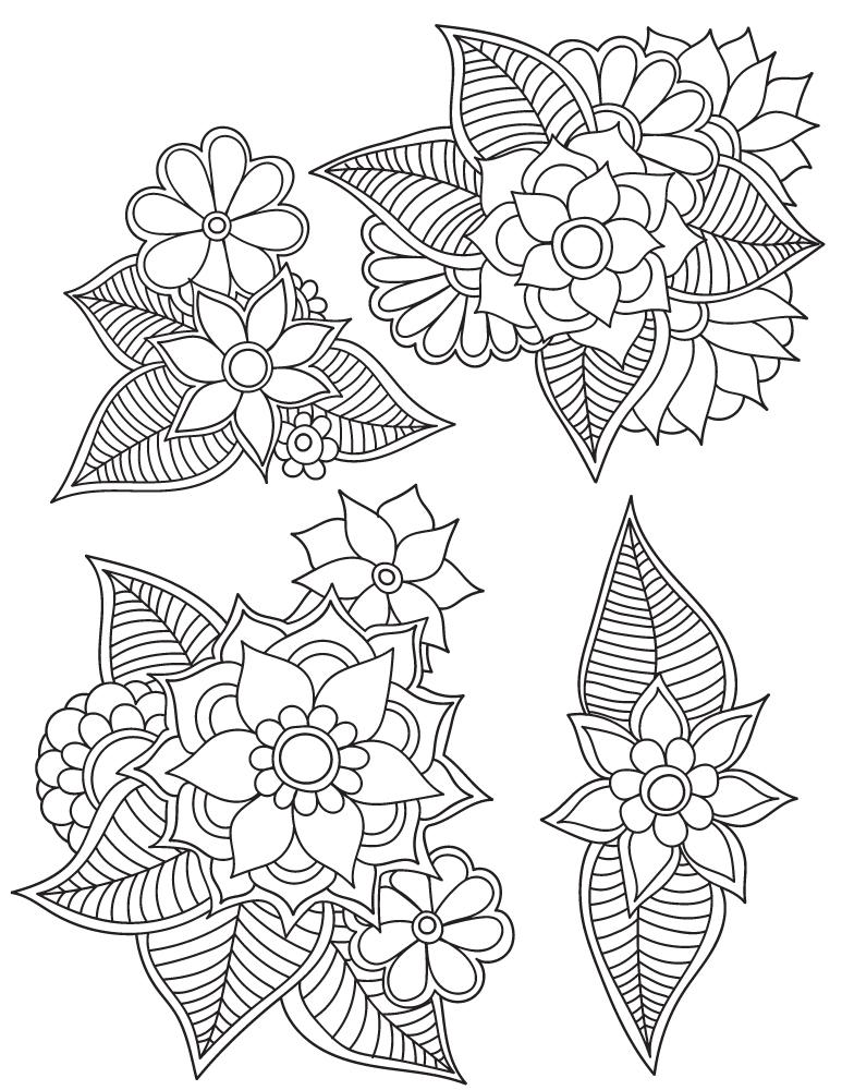 Mandalas fleurs dessin coloriage pour les grands - Artherapie.ca