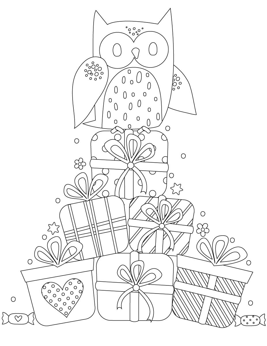 Joyeux Anniversaire Hiboux A Imprimer Et Dessiner Artherapie Ca