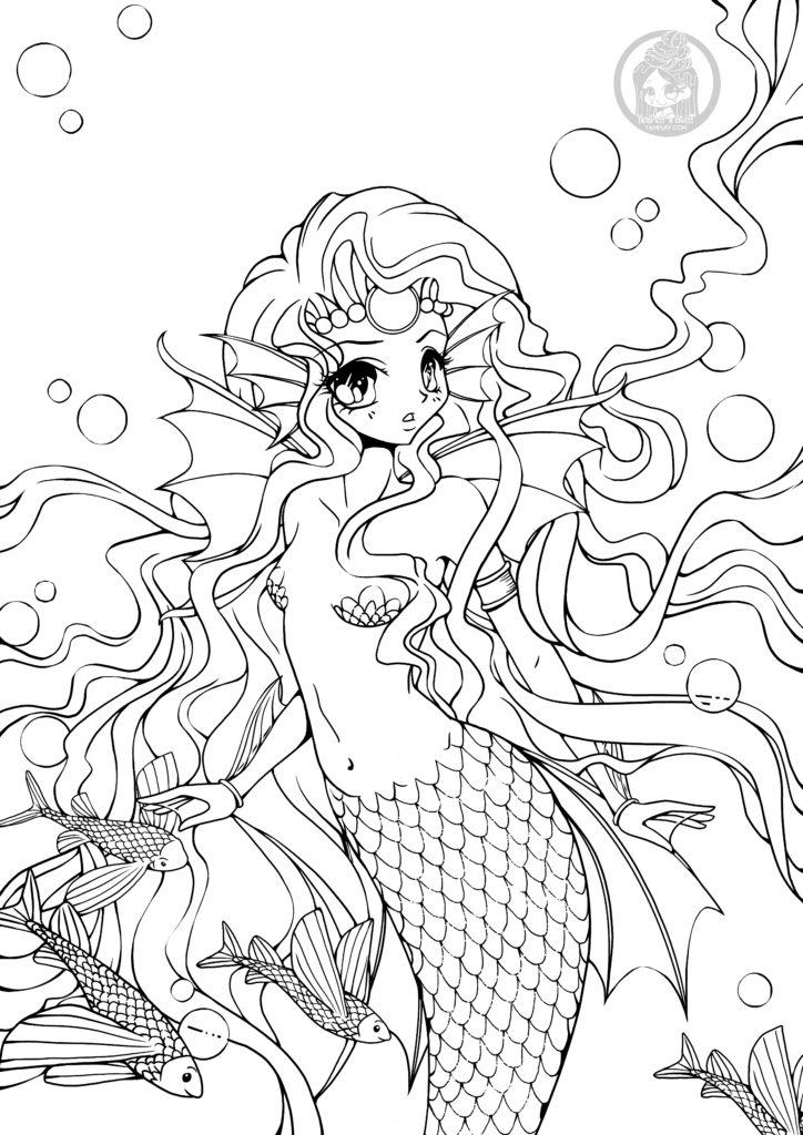 Page pour adulte à imprimer sirène par YamPuff - Artherapie.ca