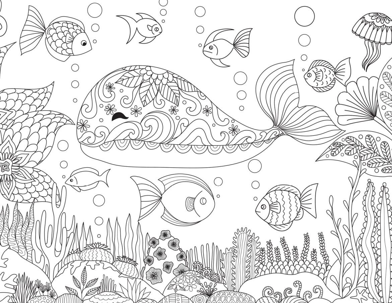 Coloriage Baleine Mandala.Dessin Baleine Joyeuse A Imprimer Gratuit Par Bimbimkha Artherapie Ca