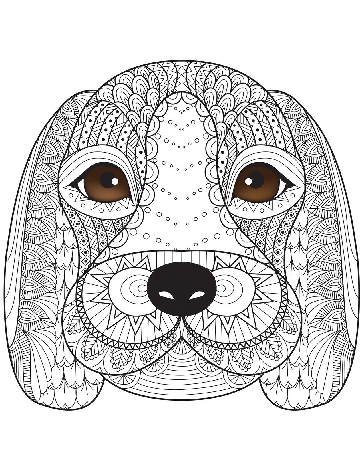 Coloriage de chien par Bimbimkha coloring book pages - Artherapie.ca