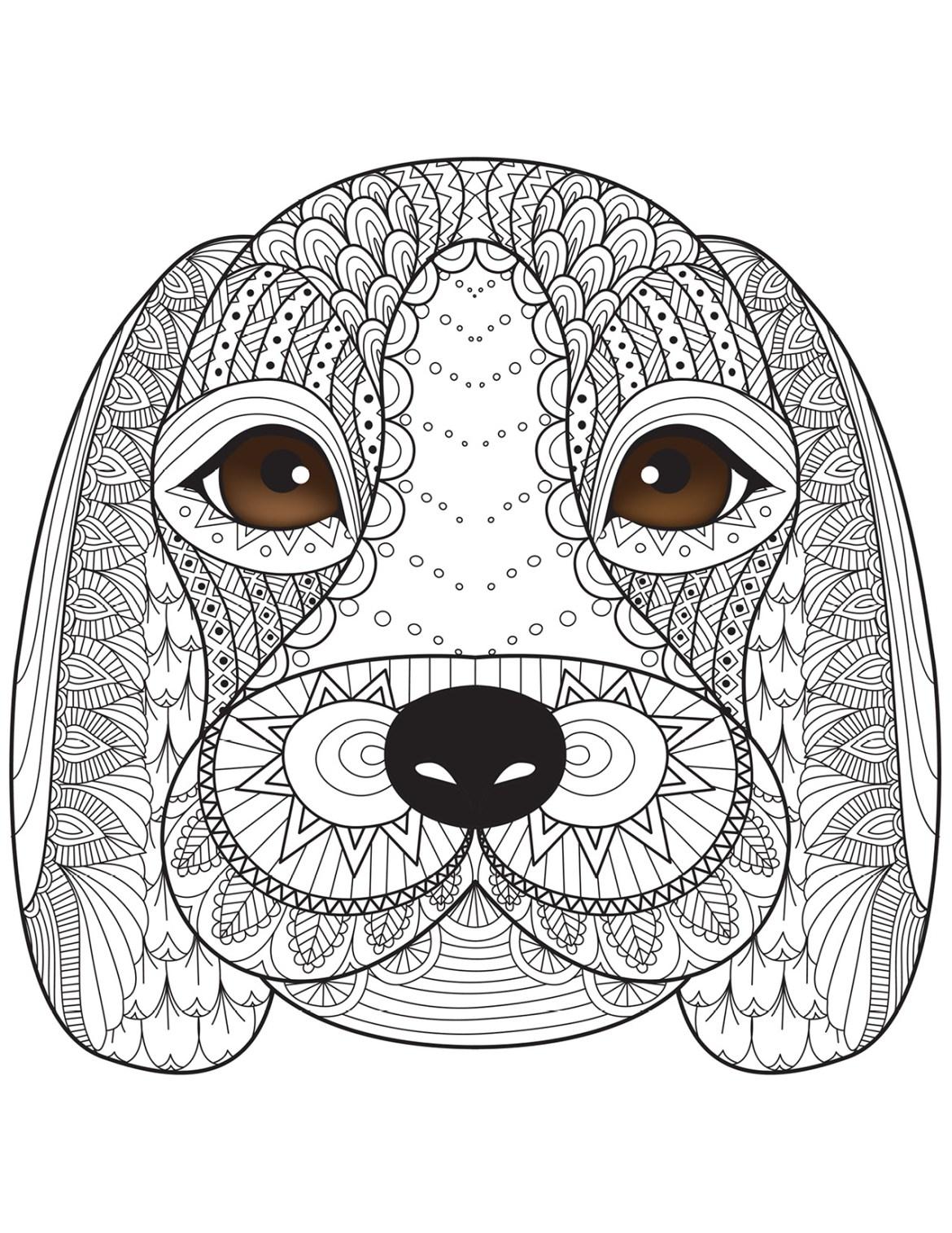 Coloriage de chien par Bimbimkha coloring book pages