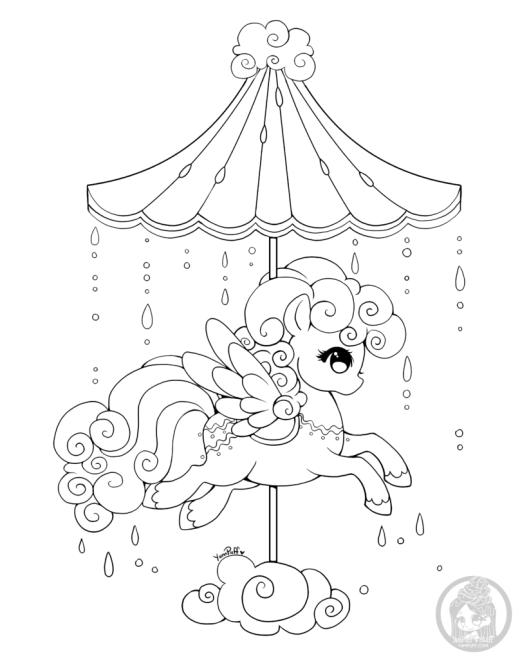Coloriage My Little Poney carousel Celestial par YamPuff