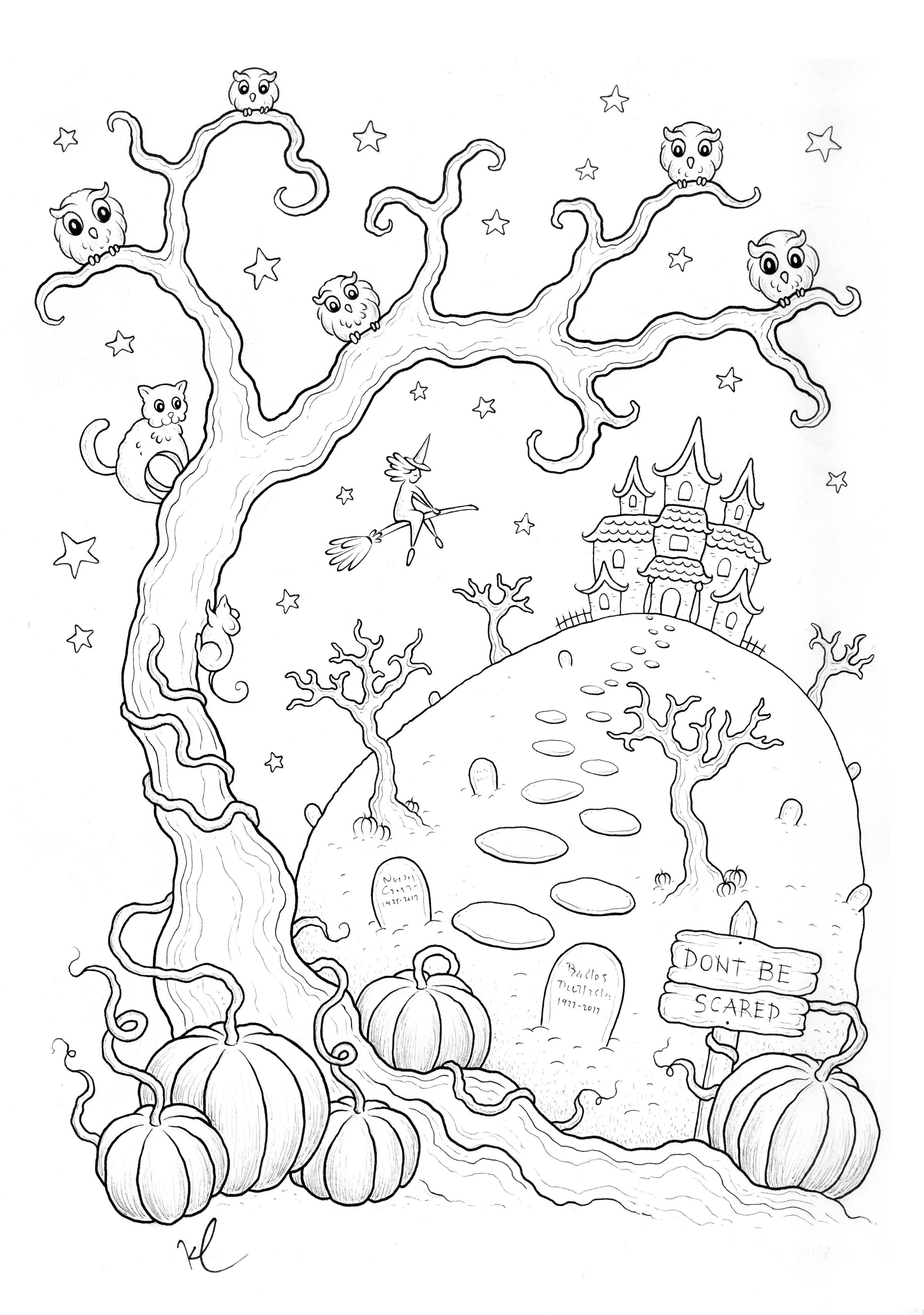 Coloriage Halloween A Imprimer Qui Fait Peur Par Konstantinos