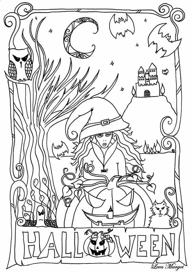 Dessins halloween imprimer gratuit par Leen Margot