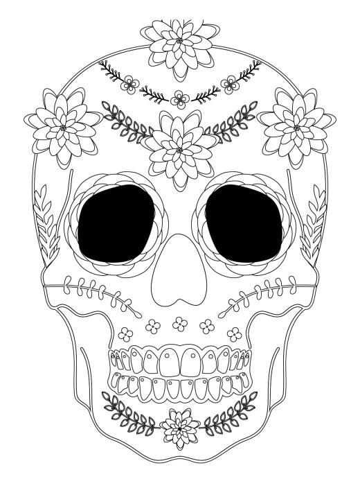 Sugar skull coloriage halloween a imprimer qui fait peur