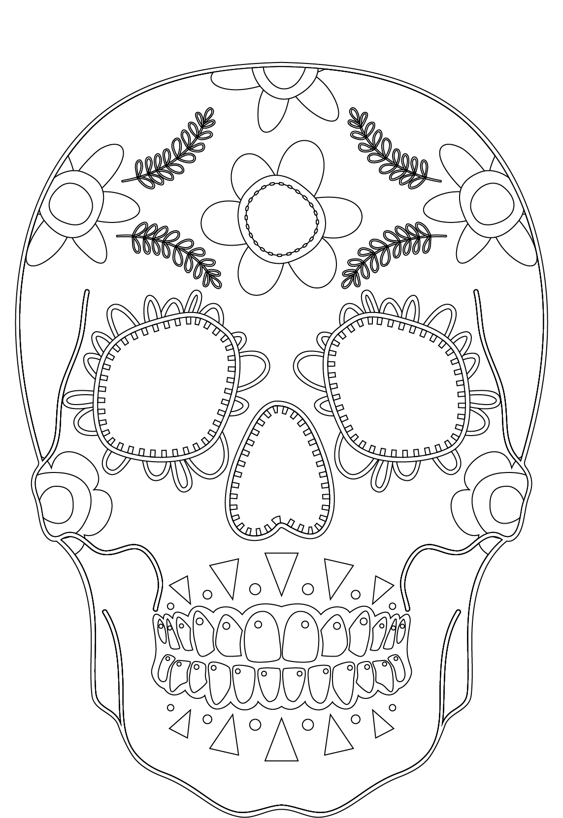Imprimer Des Coloriages Makeup Skull Face Artherapie Artherapie Ca