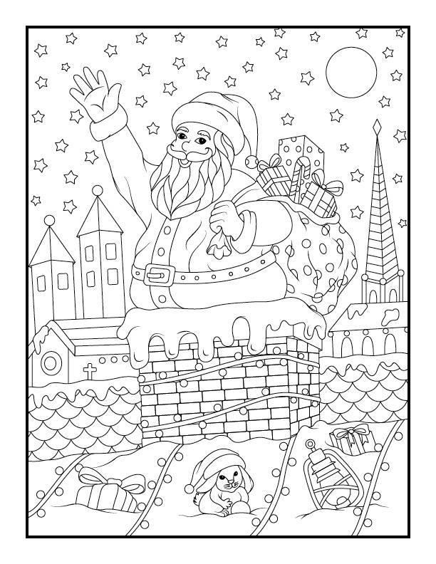 Pages de noel coloriage à imprimer par Jade Summer