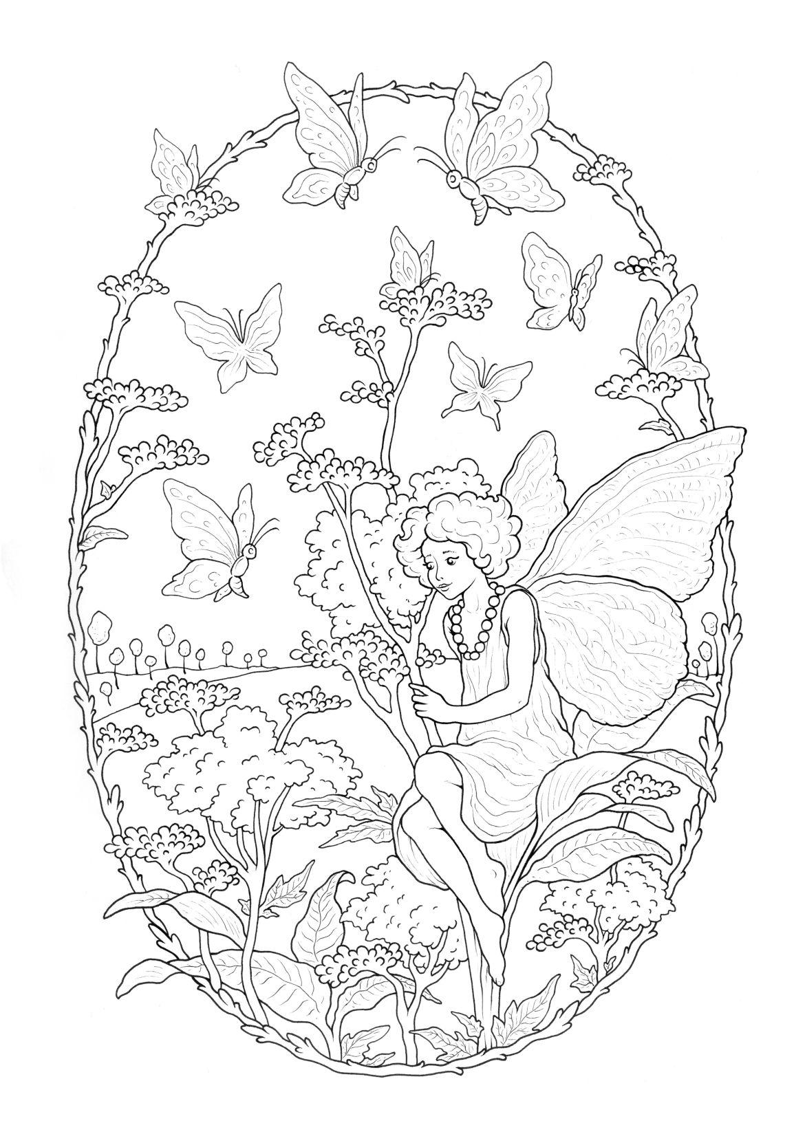 Dessin jardin enchanté à imprimer par Konstantinos Liaramantzas ...