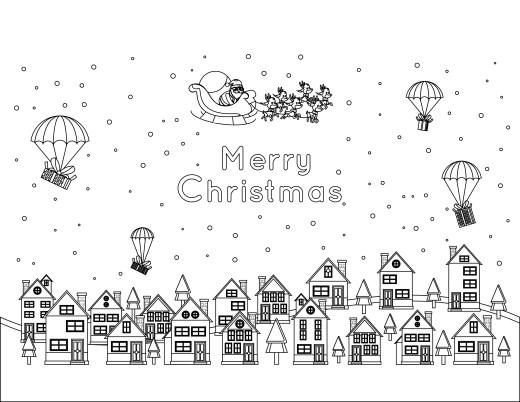 Joyeux Noël image pere noel a colorier difficile gratuit