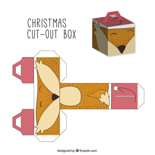 Bricolage boite coloriage noel à imprimer pour adulte