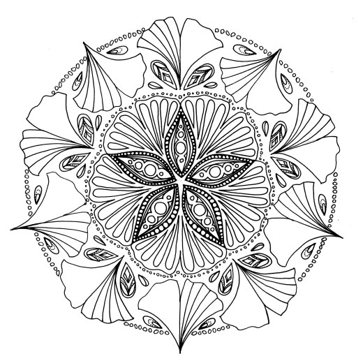 Coloriage mandala à imprimer gratuit par Chocobo